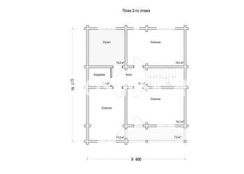 План дома из профилированного бруса Камень