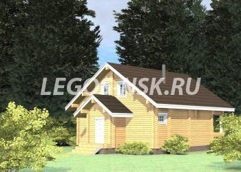 Дом из профилированного бруса Лесной