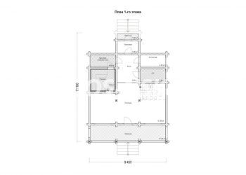 План дома из профилированного бруса Лесной