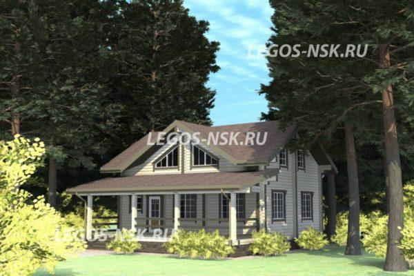 Дом из профилированного бруса Ольгино