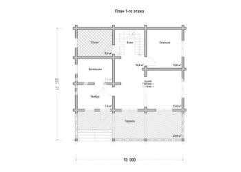 План дома из профилированного бруса Ольгино