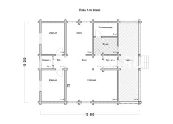 План дома из профилированного бруса Покров