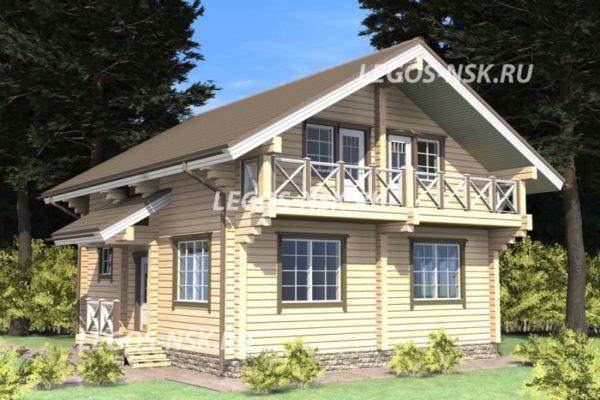 Дом из профилированного бруса Радож