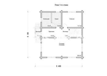 План дома из профилированного бруса Радож