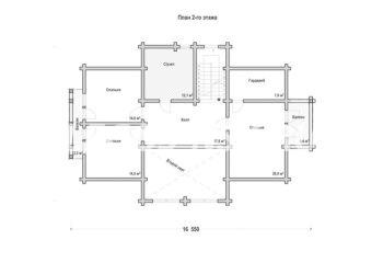 План дома из профилированного бруса Ржев