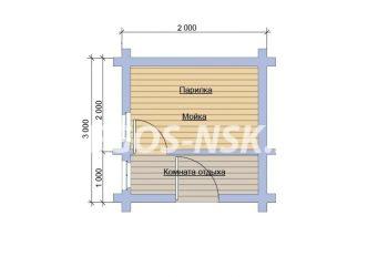 Баня из бруса схема 3x2