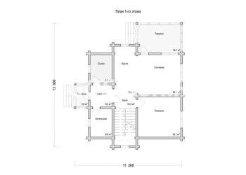 План дома из профилированного бруса Восход