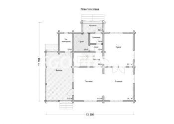 План дома из профилированного бруса Юдино