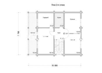 План дома из профилированного бруса Юрьево