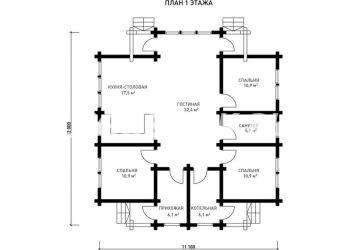 План дома из профилированного бруса Атлантида
