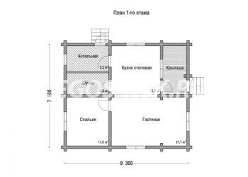 План дома из профилированного бруса Калина