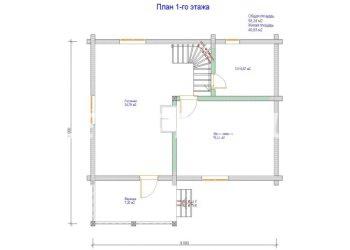 План дома из профилированного бруса Карасево