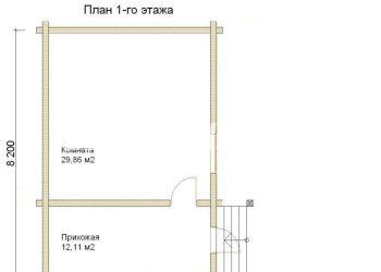 План дома из профилированного бруса Звезда