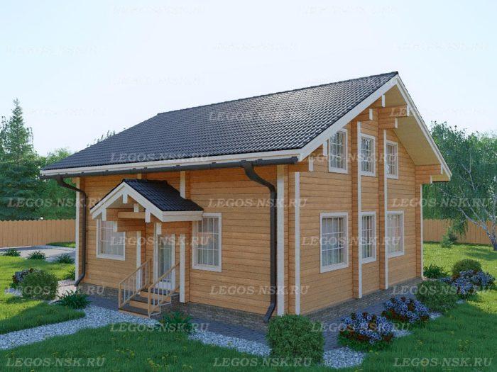 Проект дома из профилированного бруса 9х9м