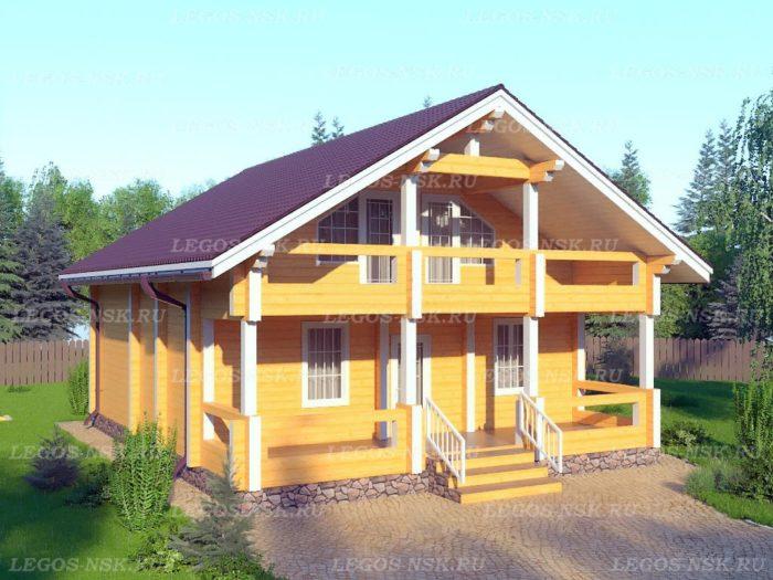 Проект дома из профилированного бруса 9х11,4м