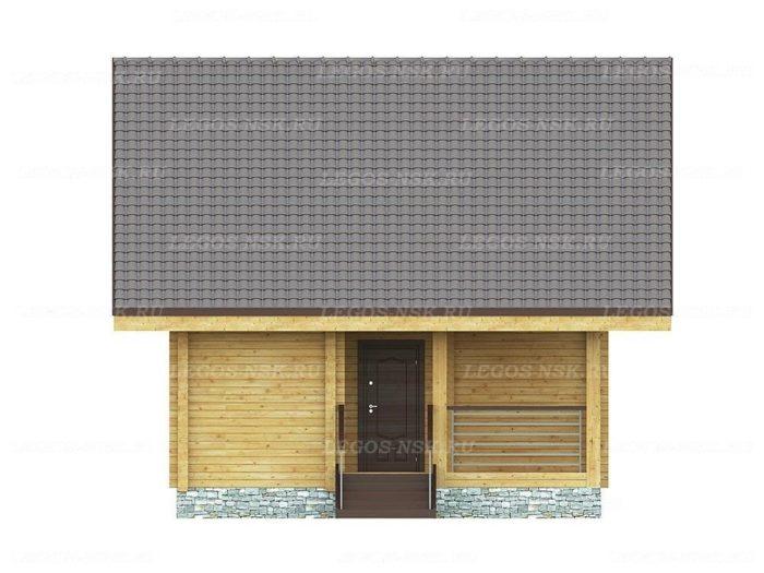 Проект дома из профилированного бруса 7,4х10,2м