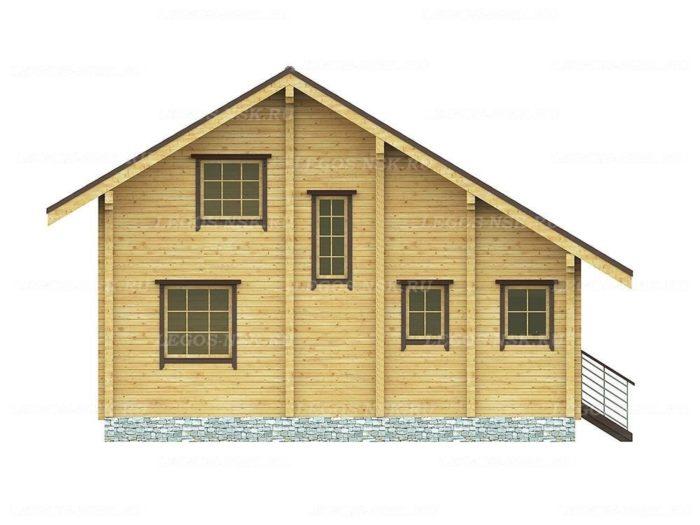 Проект дома из профилированного бруса 7,4х10,2мо