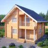 Проект дома из профилированного бруса 8х8м