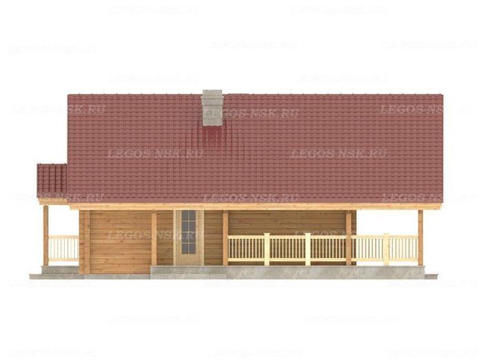 Проект дома из профилированного бруса 9,7х12,2м