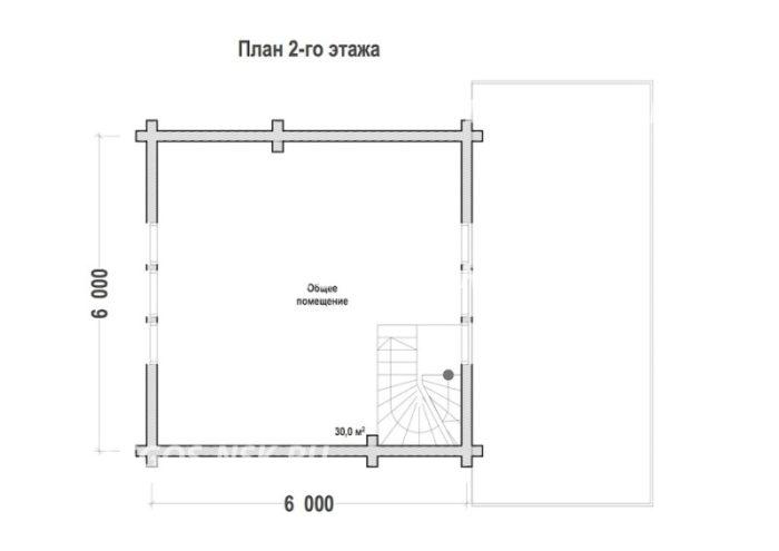 План бани из профилированного бруса Некрасово