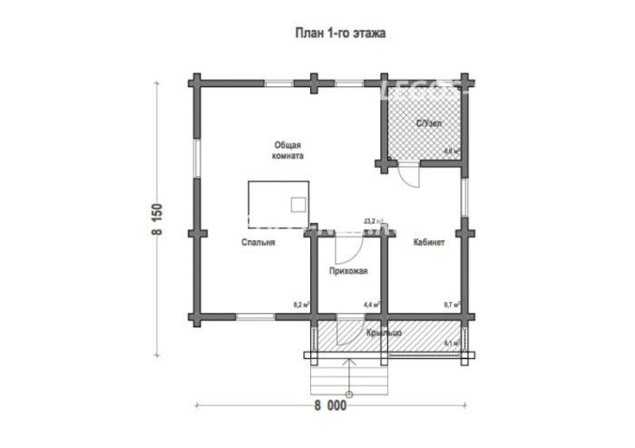 План дома из профилированного бруса Печора