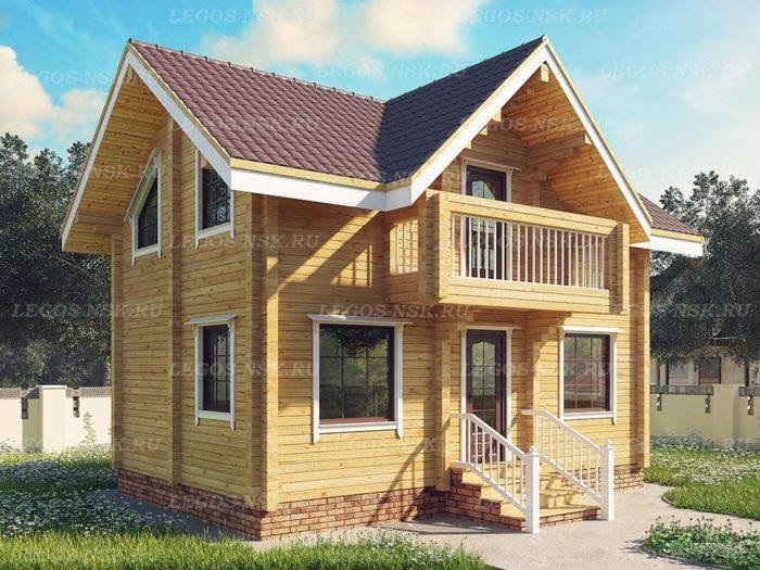 Проект дома из профилированного бруса 5,7х8,8м