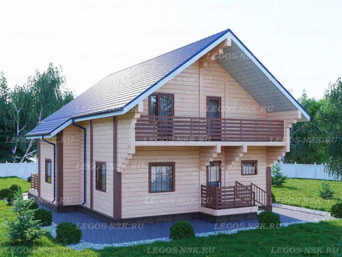 Проект дома из профилированного бруса 9,5х13,6м