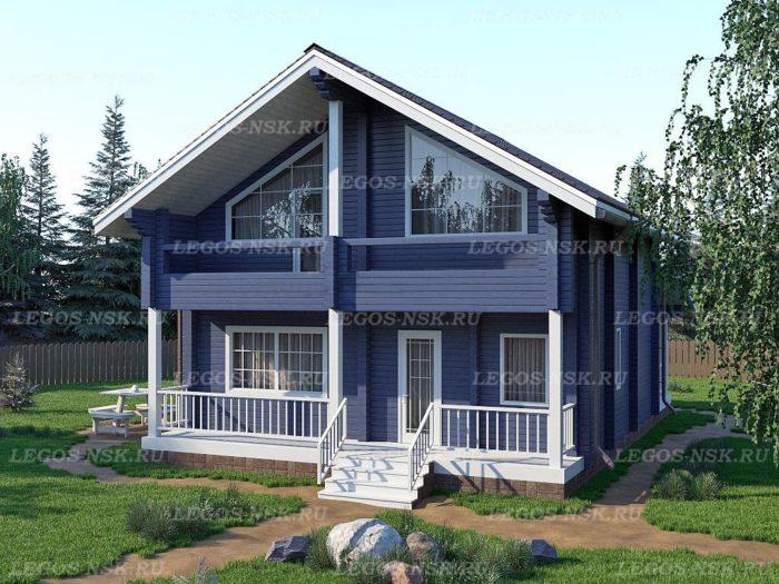Проект дома из профилированного бруса 9х13,5м