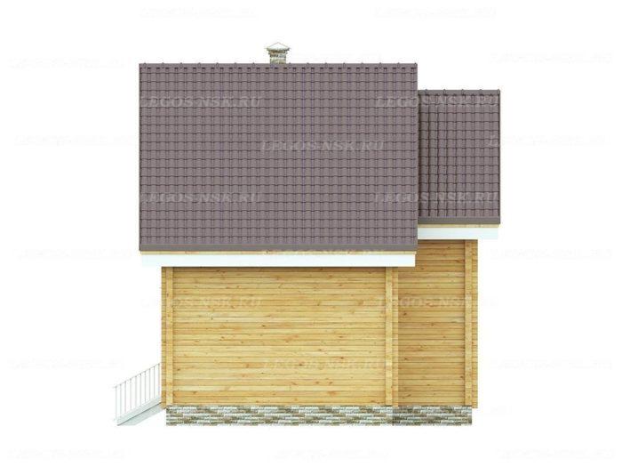 Проект дома из профилированного бруса 7,5х8м