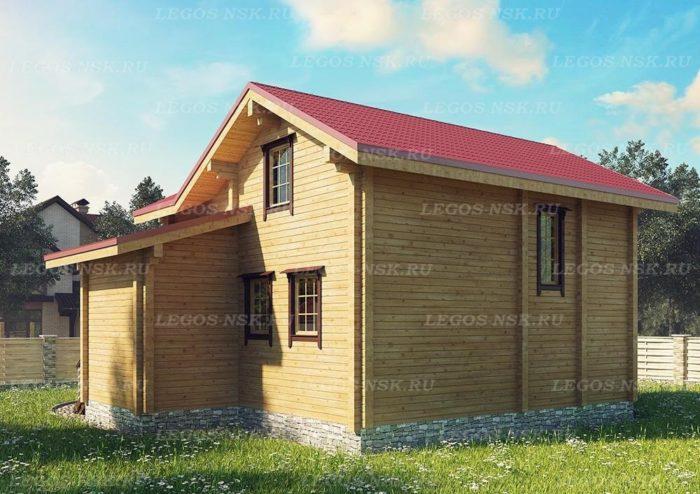 Проект дома из профилированного бруса 10,4х11м